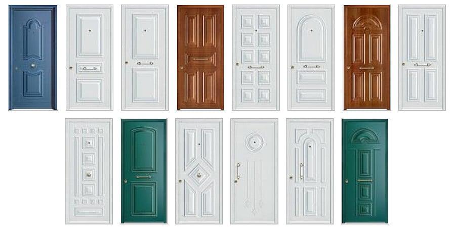 Θωρακισμένες πόρτες με μικρό κλειδί & ολική επένδυση αλουμινίου