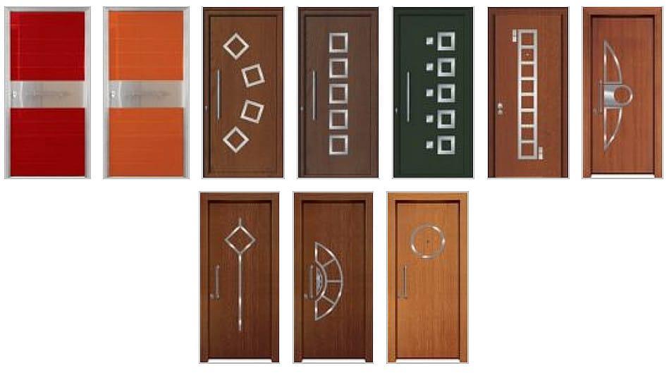Θωρακισμένες πόρτες με επένδυση inox